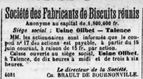 SociétédesFabriquants de Biscuits réunis
