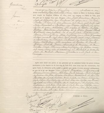 Mariage le 10 juin 1911 à Bordeaux