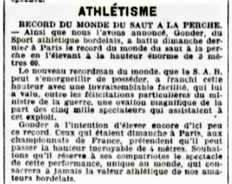 Gonder recordman du monde