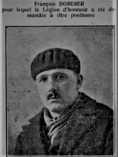 François Bordier Héros du devoir