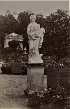 1783-1896 Château Rab Statue du parterre