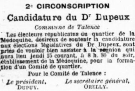 Candidature Dupeux