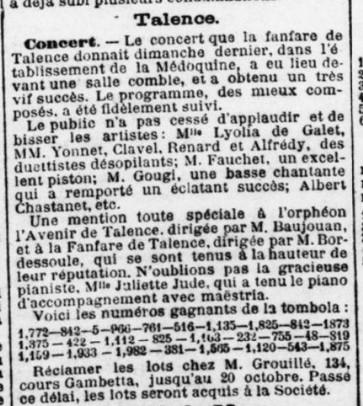 Concert de la Fanfare