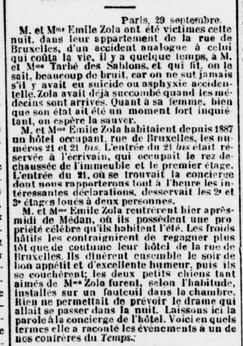 Emile Zola un accident presque parfait