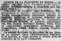 Comité Fauvette Suzon
