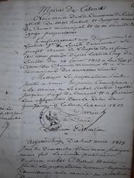 Réunions du Conseil Municipal sous l'Empire et la Révolution