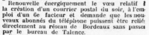 Poste et téléphone