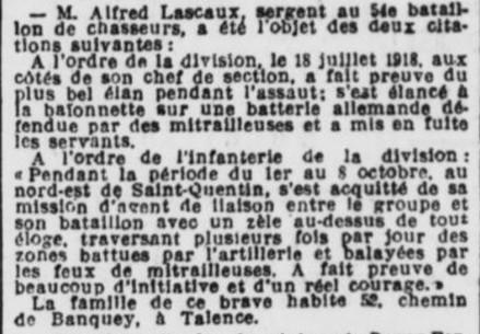Sergent Lascaux citation