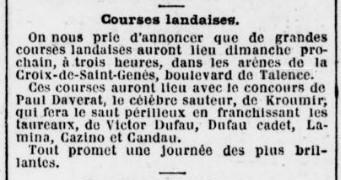 Arènes Courses landaises