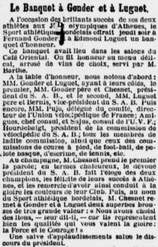 Banquet Gonder et Luguet