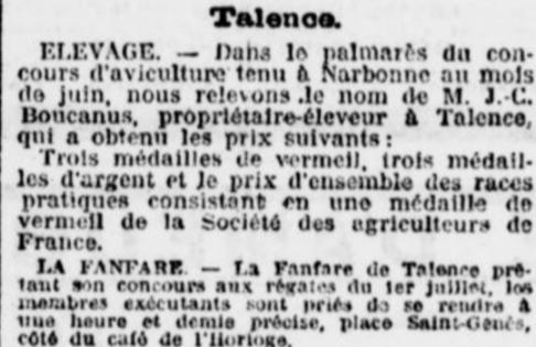 Récompensé à Narbonne