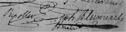 Blumerel Joseph Maire 1822-1825