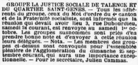 Justice sociale St Genès