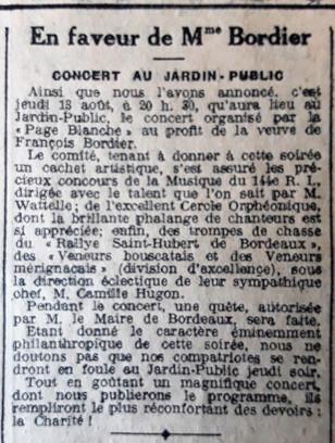 45 Concert en faveur de Mme Bordier
