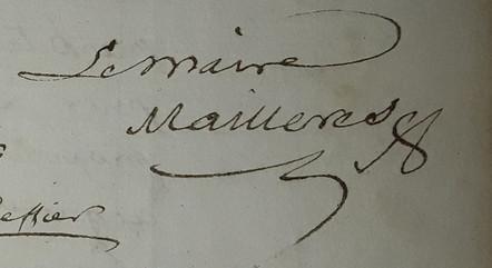 Mailléres Pierre Maire 1815-1816
