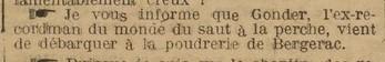 Gonder affecté à Bergerac