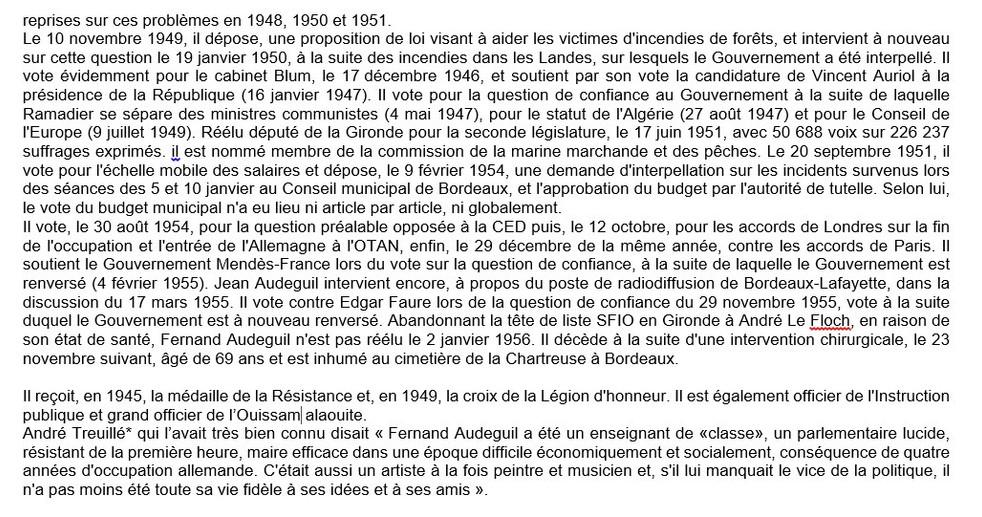 Maire de Bordeaux 1945-1954