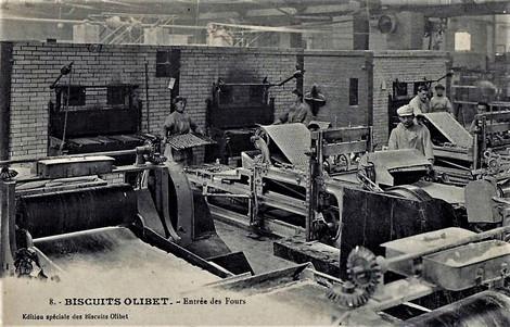 Biscuits Olibet  entrée des fours