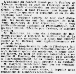 Concert de la Fanfare pot offert par Boucanus
