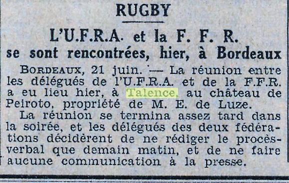 Accords de Peixotto les débuts de la réconciliation.