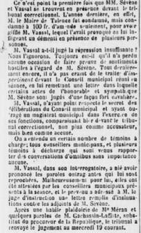 Frédéric Sévène attaque M.Vassal