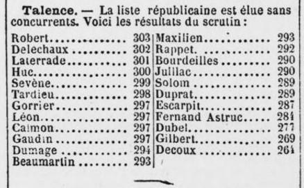 Elections municipales une seule liste