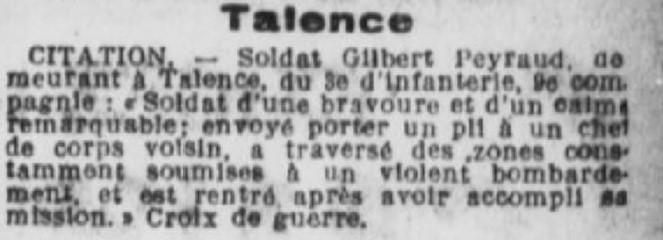 Citation PEYRAUD Gilbert