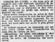 Arbre Noël M. Fourmigué trésorier