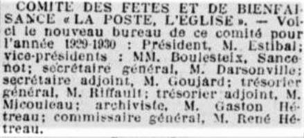 Comité Poste Eglise Bureau
