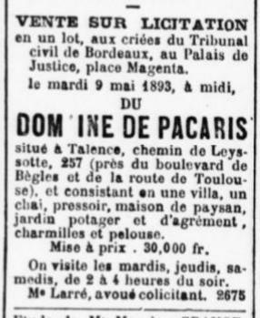 Domaine de Pacaris