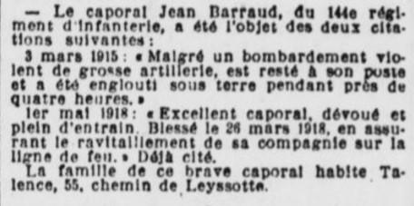 Citations Caporal Barraud