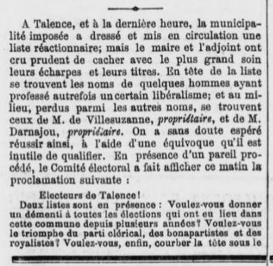 Elections Municipale Villesuzanne VS Laterrade