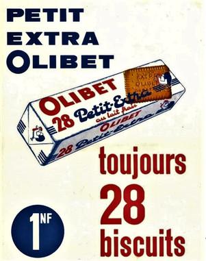 Affiche Olibet 1 nouveau franc le paquet