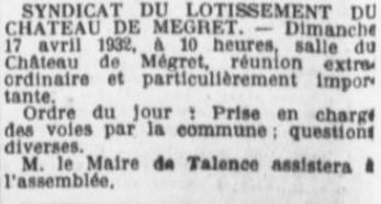 Comité Château Mégret