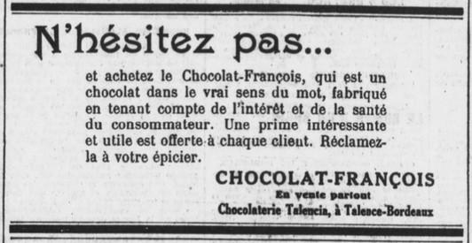 Talencia Chocolat François