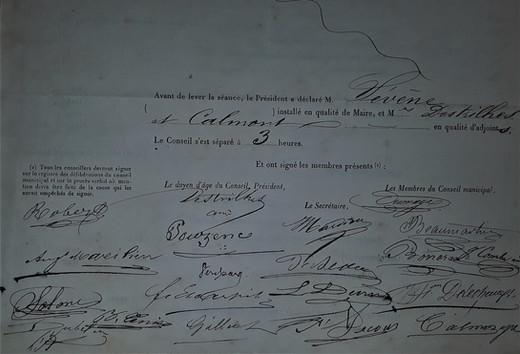 Signatures des conseillers