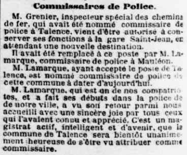 Commissaire Lamarque