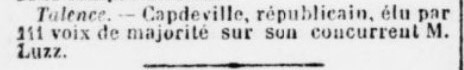 Elections Capdeville