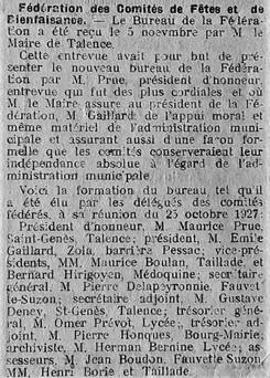 Fédération des 9 comités de 1928