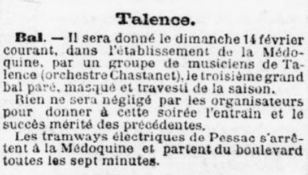 Bal Médoquine Orchestre Chastanet