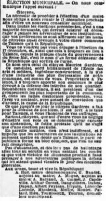 Maurice Gardères Candidat républicain