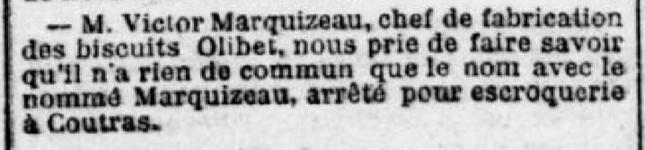 Marquizeau chef de fabrication Olibet