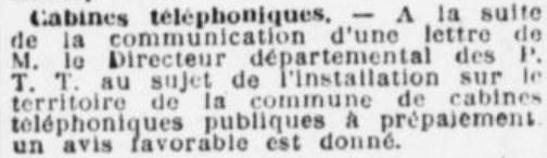 Cabines téléphoniques