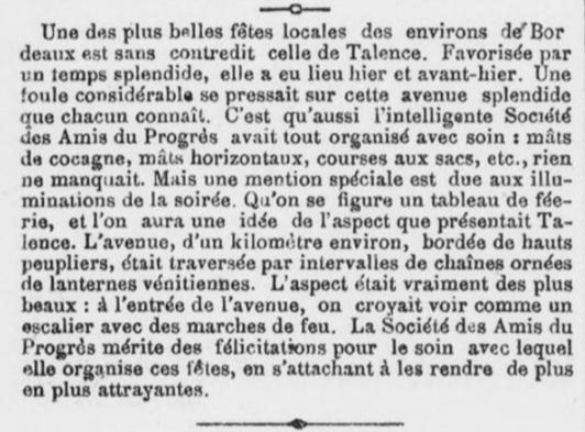 Compte rendu rédigé par un journaliste bordelais