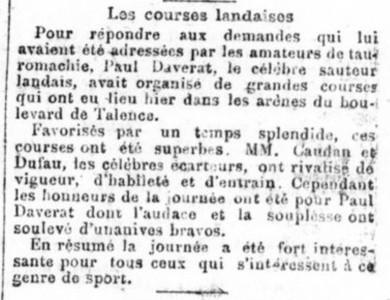 Courses Landaise
