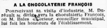Visite de la Chocolaterie