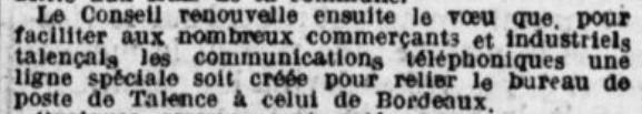 Téléphone BordeauxTalence