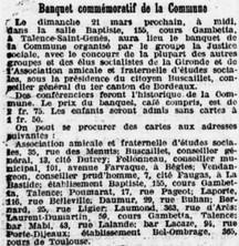 Commémoration de la Commune