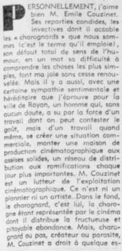 François Chalais donneur de leçons