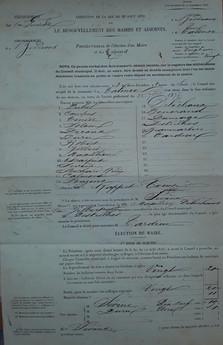 Election de Frédéric Sévène